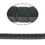 Magnetische Hämatit Perlen, Würfel, schwarz, Grade A, 6x6mm, Bohrung:ca. 1mm, Länge:15.5 ZollInch, 10SträngeStrang/Menge, verkauft von Menge
