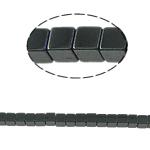 Nicht-magnetische Hämatit Perlen, Non- magnetische Hämatit, Würfel, schwarz, Grade A, 3x3mm, Bohrung:ca. 1mm, Länge:15.5 ZollInch, 10SträngeStrang/Menge, verkauft von Menge