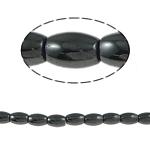 Nicht-magnetische Hämatit Perlen, Non- magnetische Hämatit, oval, schwarz, Grade A, 8x5mm, Bohrung:ca. 1.5mm, Länge:15.5 ZollInch, 10SträngeStrang/Menge, verkauft von Menge
