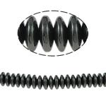 Magnetische Hämatit Perlen, Rondell, schwarz, Grade A, 8x3mm, Bohrung:ca. 2mm, Länge:15.5 ZollInch, 10SträngeStrang/Menge, verkauft von Menge