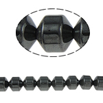 Magnetische Hämatit Perlen, Non- magnetische Hämatit, Zylinder, schwarz, Grade A, 10x10mm, Bohrung:ca. 2mm, Länge:15.5 ZollInch, 10SträngeStrang/Menge, verkauft von Menge