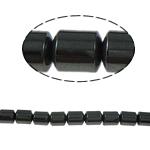 Magnetische Hämatit Perlen, Zylinder, schwarz, Grade A, 4x6mm, Bohrung:ca. 1mm, Länge:15.5 ZollInch, 10SträngeStrang/Menge, verkauft von Menge