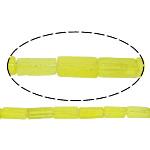 Natürlicher Quarz Perlen Schmuck, Zitronenquarz, Rechteck, gelb, 12x4.50mm, Bohrung:ca. 1mm, ca. 32PCs/Strang, verkauft per ca. 16 ZollInch Strang