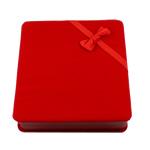 Baumwollsamt Halskettenkasten, Quadrat, rot, 165x175x46mm, verkauft von PC
