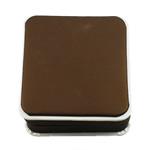 Karton Armbandkasten, mit Baumwollsamt, Quadrat, braun, 90x96x40mm, verkauft von PC