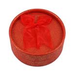 Karton Schmuckset Kasten, Fingerring & Ohrring, mit Baumwollsamt, flache Runde, rot, 84x36mm, 12PCs/Tasche, verkauft von Tasche