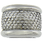 Edelstahl European Perlen, Rondell, ohne troll & Schwärzen, 16.50x12.50mm, Bohrung:ca. 7x11mm, 20PCs/Tasche, verkauft von Tasche