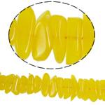 Imitierter Bernstein Harz Perlen, 11-23mm, Bohrung:ca. 1mm, 78PCs/Strang, verkauft per 17 ZollInch Strang