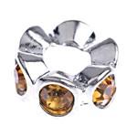 Zinklegierung Zwischenperlen, Rondell, mit Strass, frei von Nickel, Blei & Kadmium, 12x5mm, Bohrung:ca. 5mm, 10PCs/Tasche, verkauft von Tasche