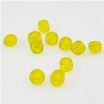 Satinierte Glas Rocailles, Glas-Rocailles, Rondell, gelb, 3x3.60mm, Bohrung:ca. 1mm, verkauft von Tasche