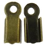 Eisen Endkappe, antike Bronzefarbe plattiert, frei von Nickel, Blei & Kadmium, 10x4x3.50mm, Bohrung:ca. 1.5mm, 1000PCs/Tasche, verkauft von Tasche
