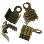 Eisen Endkappe, antike Bronzefarbe plattiert, frei von Nickel, Blei & Kadmium, 7.50x5x4mm, Bohrung:ca. 1.3mm, ca. 1000PCs/Tasche, verkauft von Tasche