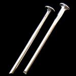 Eisen Kopfstifte, silberfarben plattiert, frei von Nickel, Blei & Kadmium, 0.80x16mm, ca. 2770PCs/Tasche, verkauft von Tasche