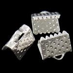 Eisen Bandklemmen, Rechteck, plattiert, keine, frei von Nickel, Blei & Kadmium, 8x7x6mm, Bohrung:ca. 2x1mm, verkauft von Tasche
