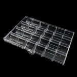 Schmuck Nagelkasten, ABS Kunststoff, Rechteck, transluzent, weiß, 181x130x24.50mm, verkauft von PC