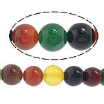Natürliche Regenbogen Achat Perlen, rund, 6mm, Bohrung:ca. 0.8-1mm, Länge:ca. 14.5 ZollInch, 10SträngeStrang/Menge, ca. 60PCs/Strang, verkauft von Menge
