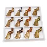 Goldsand Lampwork Anhänger, Twist, gemischte Farben, 62x25x14mm, Bohrung:ca. 6.5mm, 12PCs/Box, verkauft von Box