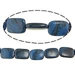 Regenbogen Venen Perlen, bunte Venen Stein, Rechteck, natürlich, blau, 14-15.5x15-22.5x5-6mm, Bohrung:ca. 0.8-2mm, ca. 20PCs/Strang, verkauft per ca. 15 ZollInch Strang