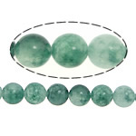 Marmor Naturperlen, gefärbte Jade, rund, 6mm, Bohrung:ca. 1mm, Länge:ca. 15 ZollInch, 5SträngeStrang/Menge, verkauft von Menge