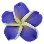 Polymer Ton Anhänger, Blume, keine, 26x8mm, Bohrung:ca. 2mm, 100PCs/Tasche, verkauft von Tasche