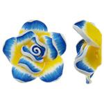Polymer Ton Perlen , Blume, 43x16mm, Bohrung:ca. 2.5mm, 100PCs/Tasche, verkauft von Tasche