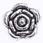 Zinklegierung Blumenperlen, antik silberfarben plattiert, frei von Blei & Kadmium, 6x6.50x3.80mm, Bohrung:ca. 1.2mm, ca. 2560PCs/Tasche, verkauft von Tasche