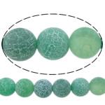 Natürliche Effloresce Achat Perlen, Auswitterung Achat, rund, verschiedene Größen vorhanden, grün, Bohrung:ca. 1-1.2mm, verkauft per ca. 15 ZollInch Strang