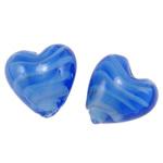 Plattierte Lampwork Perlen, Herz, 21x19.50x12.50mm, Bohrung:ca. 2mm, 100PCs/Tasche, verkauft von Tasche