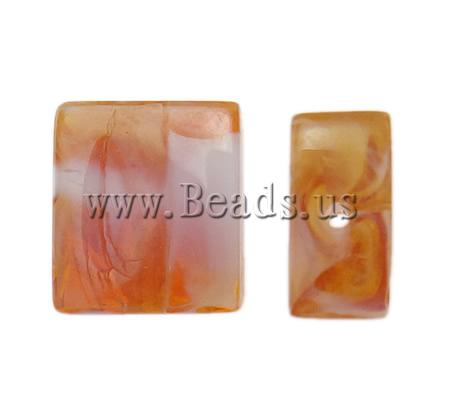 Buy Handmade Lampwork Beads Rectangle yellow 16x14x6.50mm Hole:Approx 2mm 100PCs/Bag Sold Bag