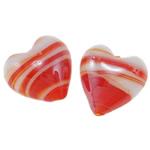 Plattierte Lampwork Perlen, Herz, 16x10mm, Bohrung:ca. 2mm, 100PCs/Tasche, verkauft von Tasche