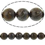 Bronzit Stein Perlen, rund, natürlich, verschiedene Größen vorhanden, Länge:ca. 15 ZollInch