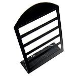 Organisches Glas Ohrringständer, Buchstabe, schwarz, 330x230x85mm, 5PCs/Tasche, verkauft von Tasche
