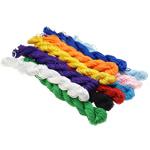 Polyester Schnur, gemischte Farben, 1mm, Länge:2100-2200 m, 10Taschen/Menge, verkauft von Menge