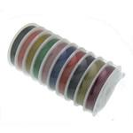 Stahldraht, mit Kunststoffspule, gemischte Farben, 0.45mm, 10PCs/Menge, 50m/PC, verkauft von Menge