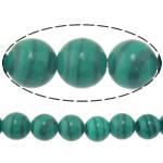 Malachit Perlen, rund, natürlich, 4mm, Bohrung:ca. 0.8mm, Länge:ca. 15 ZollInch, 10SträngeStrang/Menge, ca. 90PCs/Strang, verkauft von Menge