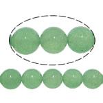 Jade Perlen, weiße Jade, rund, glatt, grün, 10mm, Bohrung:ca. 1mm, Länge:ca. 15 ZollInch, 20SträngeStrang/Menge, ca. 37PCs/Strang, verkauft von Menge