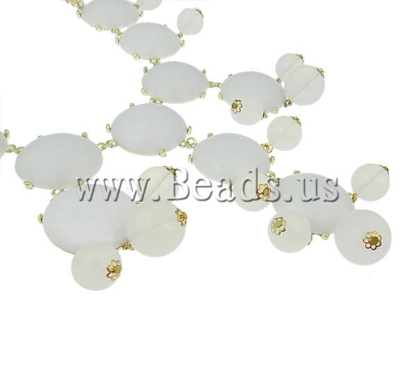 Buy Fashion Statement Necklace Zinc Alloy Resin & Iron & Acrylic zinc alloy lobster clasp gold color plated white nickel lead & cadmium free 32x33x9mm Sold Per 18.5 Inch Strand