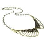 Zinklegierung Schmuck Halskette, mit Eisen, Zinklegierung Karabinerverschluss, Flügelform, antike Bronzefarbe plattiert, frei von Nickel, Blei & Kadmium, 101x39x5mm, verkauft per 23.5 ZollInch Strang