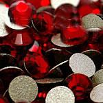 Kristall Eisen auf Nagelkopf, Dom, flache Rückseite & facettierte, Siam, Grade A, 6.4-6.6mm, 2Grosses/Tasche, 144PCs/brutto, verkauft von Tasche