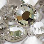 Kristall Eisen auf Nagelkopf, Dom, flache Rückseite & facettierte, Kristall, Grade A, 1.3-1.4mm, 10Grosses/Tasche, 144PCs/brutto, verkauft von Tasche
