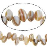 Natürliche weiße Muschelperlen, 9-10mm, Bohrung:ca. 0.8mm, verkauft per ca. 15 ZollInch Strang