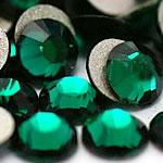 Kristall Eisen auf Nagelkopf, Dom, flache Rückseite & facettierte, smaragdgrün, Grade A, 3.8-4.0mm, 10Grosses/Tasche, 144PCs/brutto, verkauft von Tasche