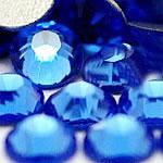 Kristall Eisen auf Nagelkopf, Dom, flache Rückseite & facettierte, tiefblau, Grade A, 6.4-6.6mm, 2Grosses/Tasche, 144PCs/brutto, verkauft von Tasche
