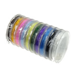 Elastisches Garn, elastischer Faden, gemischte Farben, 48mm, 0.6mm, Länge:100 m, 10PCs/Menge, 10/PC, verkauft von Menge