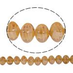 Plattierte Lampwork Perlen, Quadrat, Orange, 13x14mm, Bohrung:ca. 2mm, Länge:ca. 16.5 ZollInch, 10SträngeStrang/Tasche, verkauft von Tasche