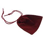 Baumwollsamt Beutel, Rechteck, rot, 94x87x1mm, 100PCs/Tasche, verkauft von Tasche