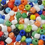 Glänzende Glas-Rocailles, rund, Schimmer, Volltonfarbe, gemischte Farben, 3x3.6mm, Bohrung:ca. 1.5mm, ca. 7500PCs/Tasche, verkauft von Tasche