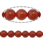 Natürlich rote Achat Perlen, Roter Achat, rund, verschiedene Größen vorhanden, Grade A, Bohrung:ca. 1-1.2mm, Länge:ca. 15 ZollInch, verkauft von Menge