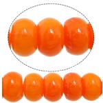 Natürliche Korallen Perlen, Rondell, rote Orange, 6x4mm, Bohrung:ca. 1mm, Länge:ca. 16.5 ZollInch, 10SträngeStrang/Menge, ca. 104PCs/Strang, verkauft von Menge