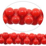Natürliche Korallen Perlen, rot, 3x6mm, Bohrung:ca. 1mm, Länge:ca. 15.5 ZollInch, 10SträngeStrang/Menge, ca. 186PCs/Strang, verkauft von Menge